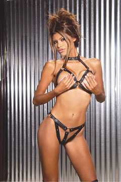 Leather Bra & G-String