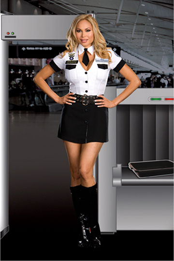 Plus Size TSA Strip Search Costume