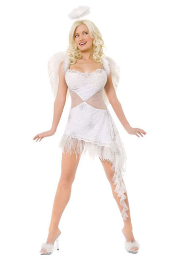 Playboy Hefs Angel Costume