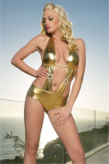 Gold Lame Monokini