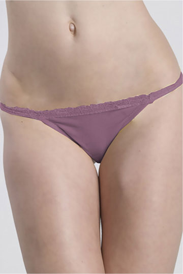 Plus Size Low Rise Keyhole Thong