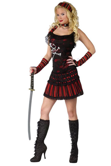 Skull Rocker Pirate Costume