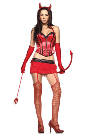 Red Hot Sexy Devil Costume