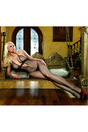 Industrial Ribbon Halter Bodystocking