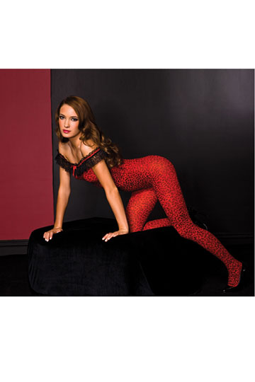 Ruffle Trim Bodystocking