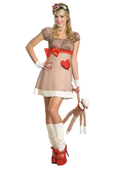 Little Ms. Sock Monkey Costume