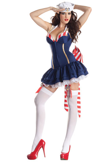 Pin Up Sailor Body Shaper Costume