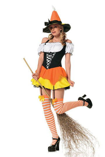 Sexy Kandy Korn Witch Costume