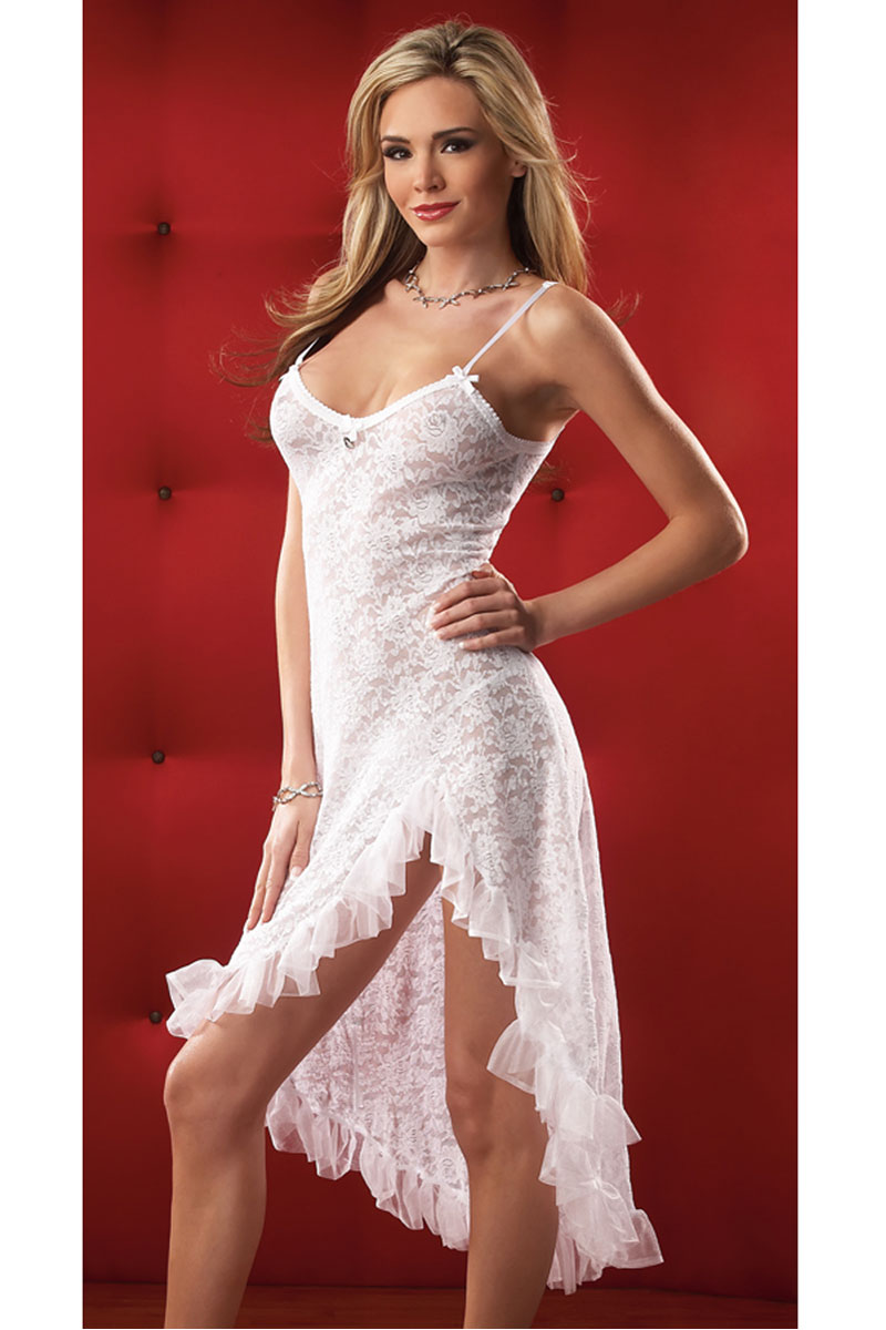 Stretch Lace Gown & G-String