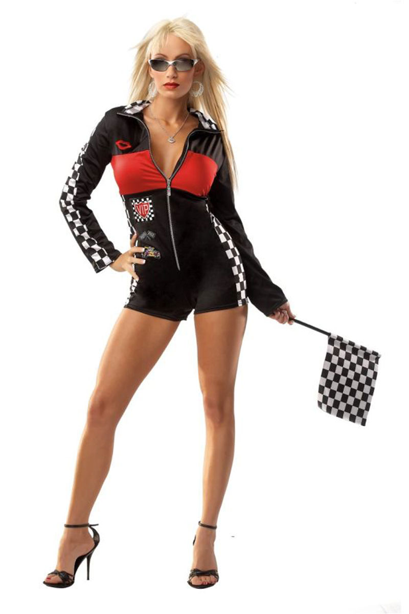 Sexy racer girl costume by coquette foxy lingerie sexy racer girl costume sciox Choice Image