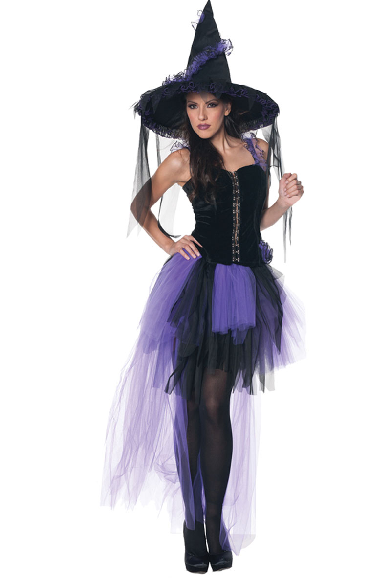 Black Magic Adult Witch Costume - Foxy Lingerie-8622
