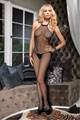 Seamless Fishnet Halter Bodystocking